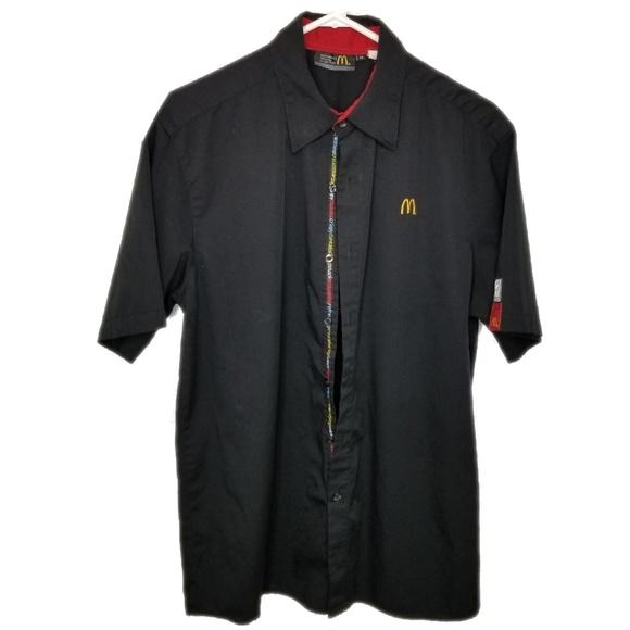 mc donalds Other - Mc Donalds uniform black botton up shirt size M